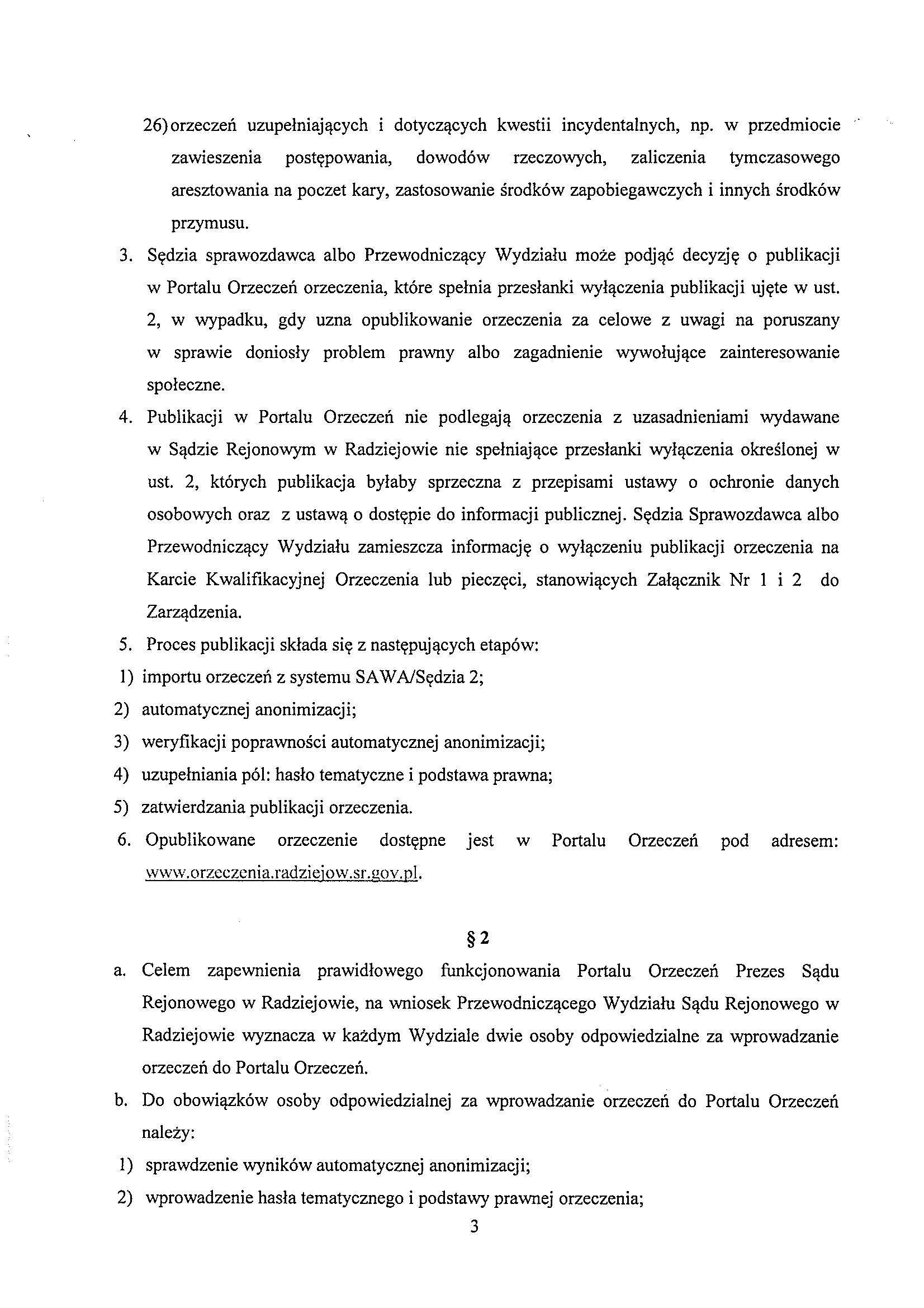 Portal Orzeczeń - Sąd Rejonowy w Radziejowie